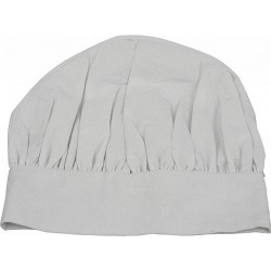 White textile cook's hat